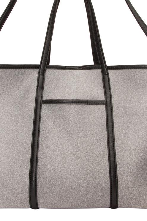 Grau-schwarze Shopper-Tasche