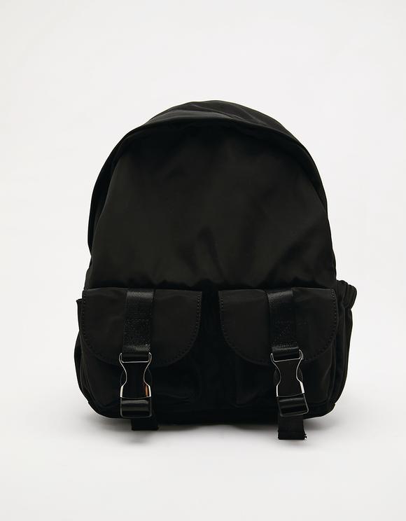 Black Nylon Backpack