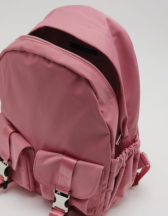 Pink Nylon Backpack
