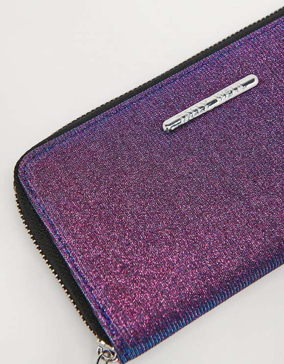 Purple Glitter Wallet
