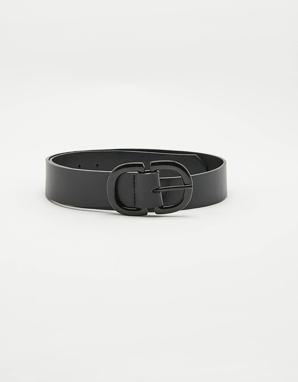 Double D Buckle Black Belt
