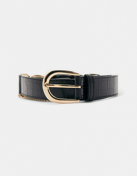 Black Belt with Chain