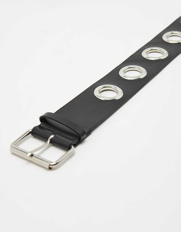 Wide Eyelet Waist Belt