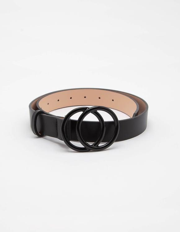 Black Double Circle Belt