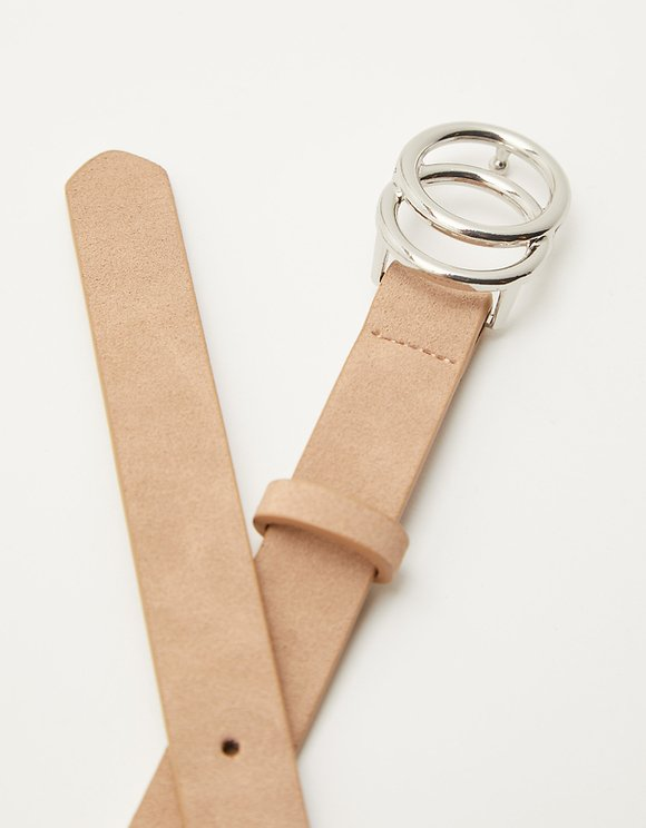 Beige Double Circle Belt