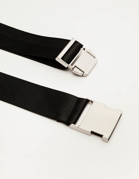 Black Safety Buckle-style Belt