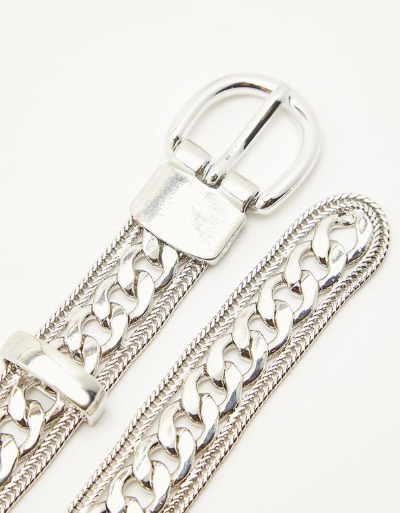 Srebrny łańcuszek do spodni