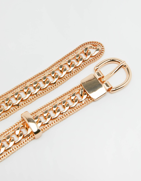 Chunky Gold Chain Waist Belt