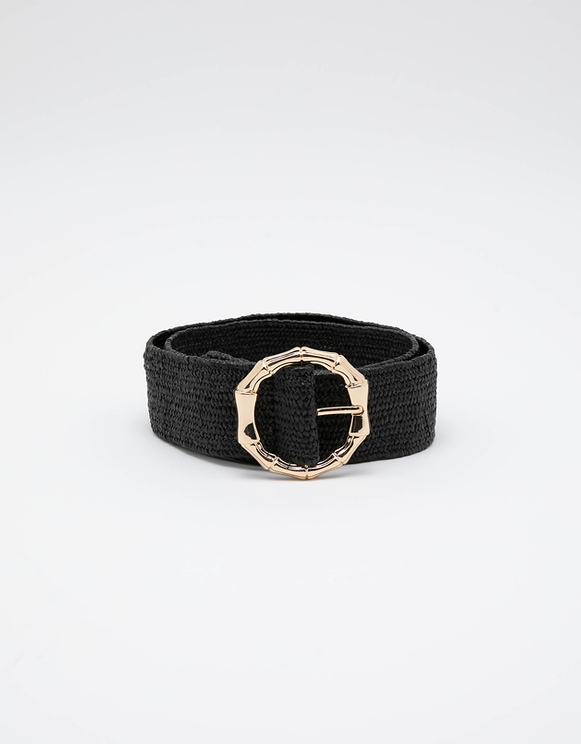 Schwarzer Stroh-Gürtel