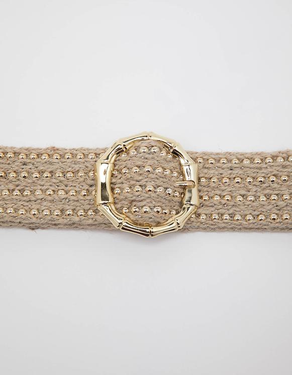 Beiger Gürtel mit goldene Details