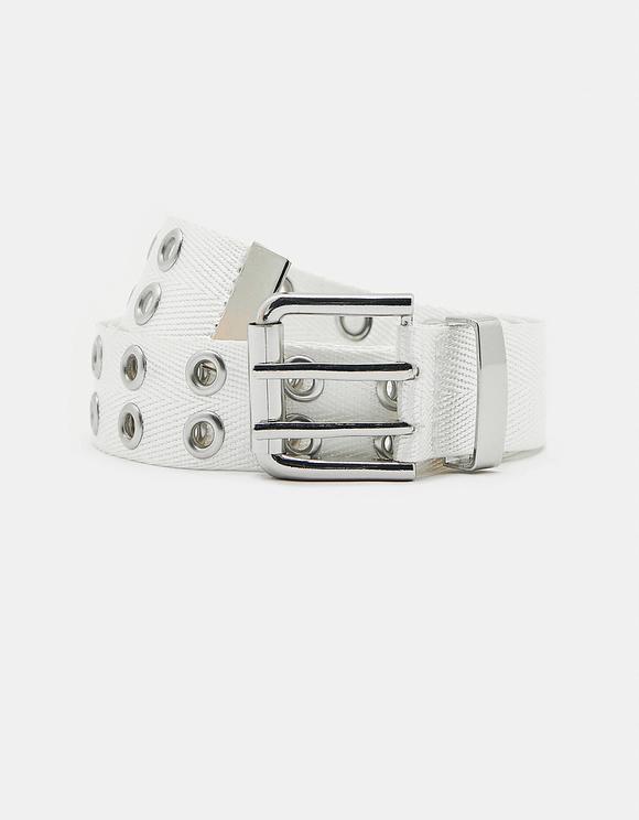 White Eyelet Belt