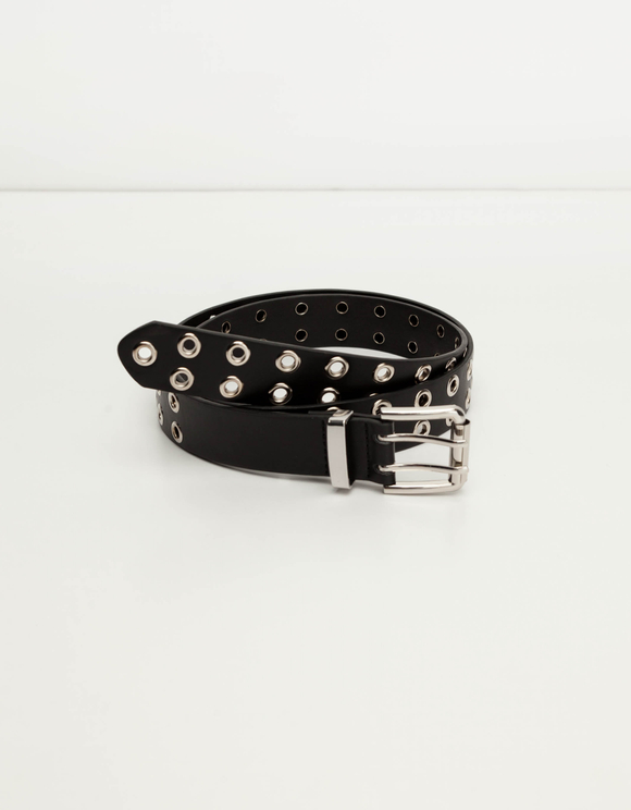 Black Grommet Belt