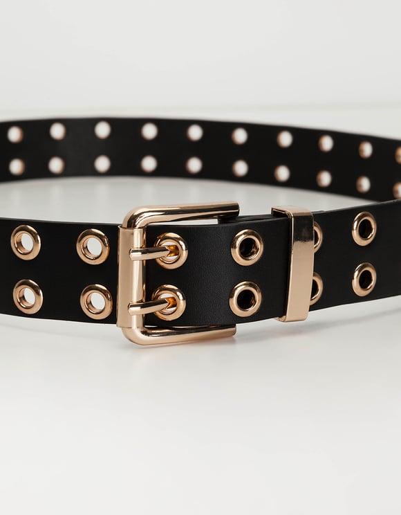 Black Grommet Belt