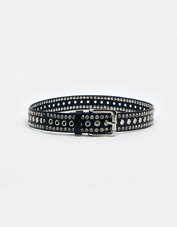 Black Studded Belt
