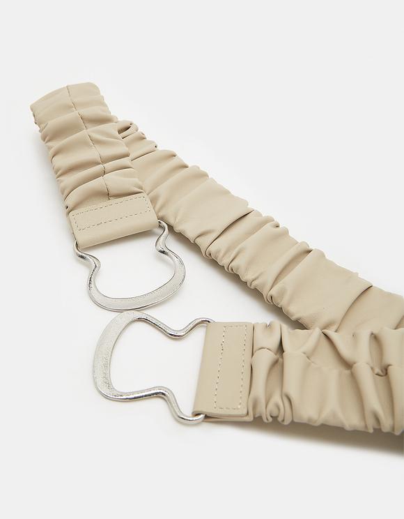 Beige Elastic Belt