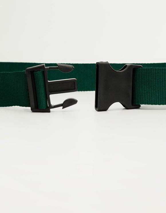 Cintura Verde con Fibbia di Sicurezza