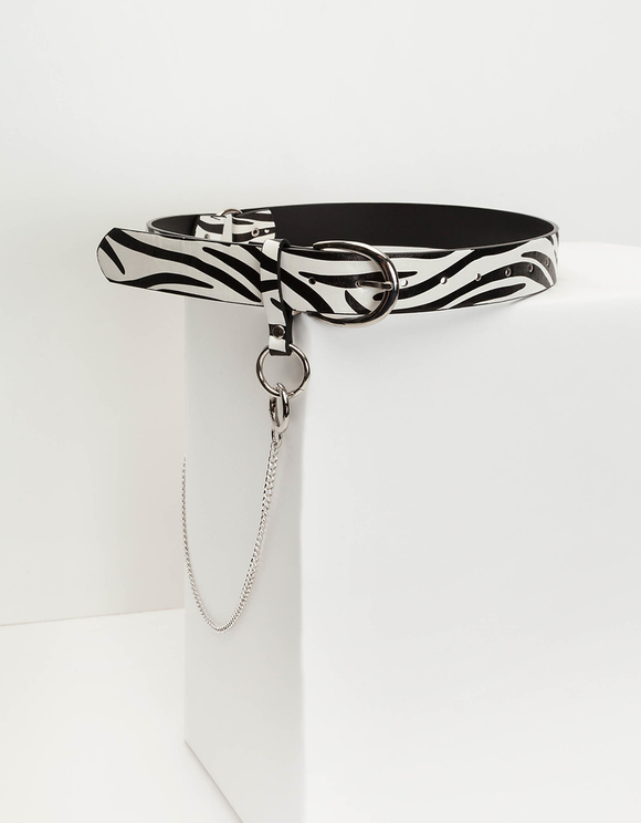 Gürtel mit Zebra-Muster