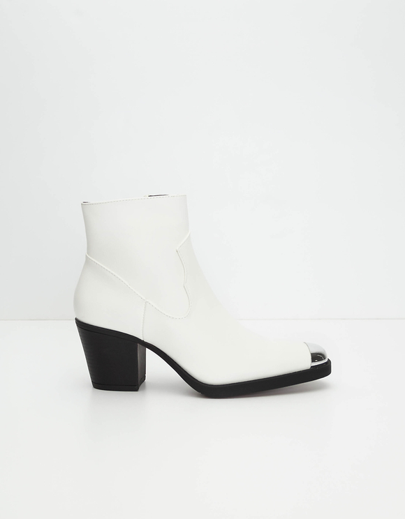 Bottines Western Blanches