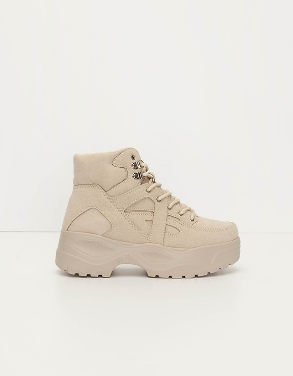 Beige Chunky Boots