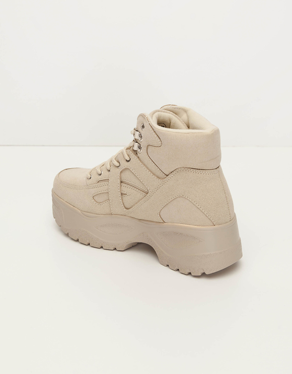 Bottes Chunky Beiges