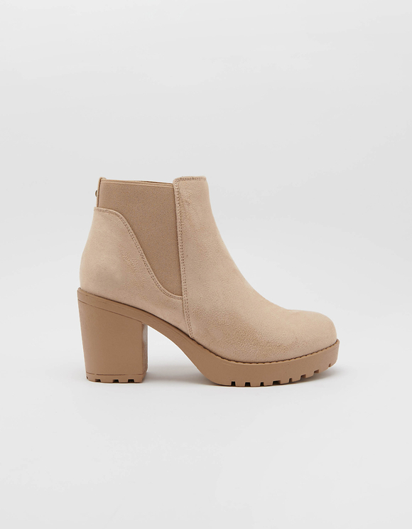 Bottines à Talon Beige