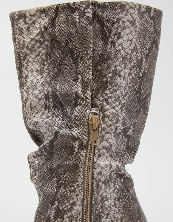 Stifeletten mit Schlangen-Muster