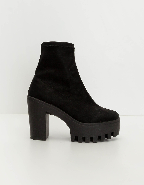 Black Chunky Ankle Boots