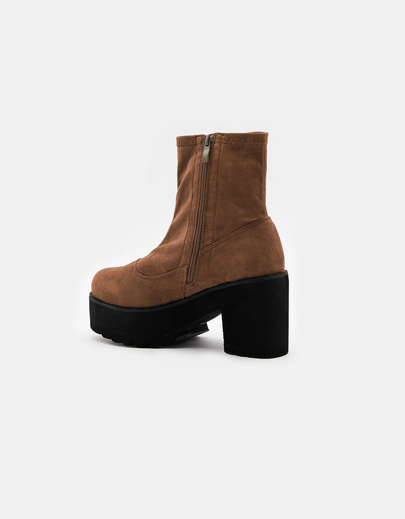 High Chunky Sole Ankle Boots