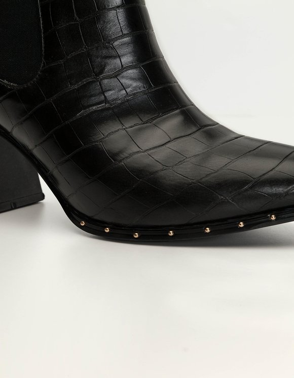Bottines Western Motif Crocodile
