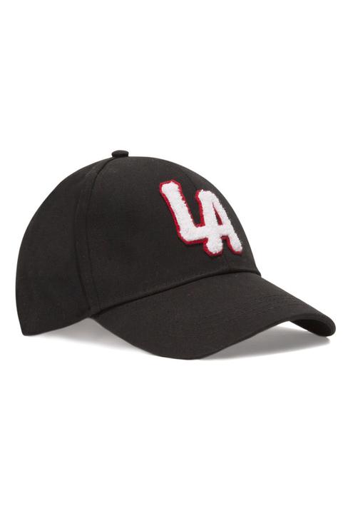 Schwarze Mütze mit Slogan