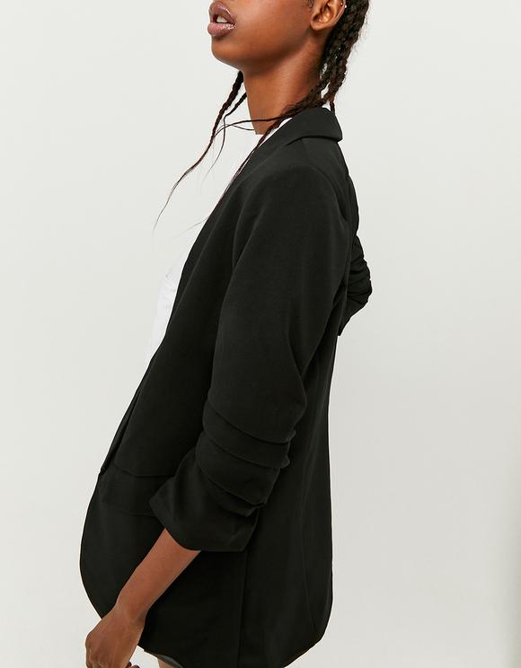 Black Open Front Blazer