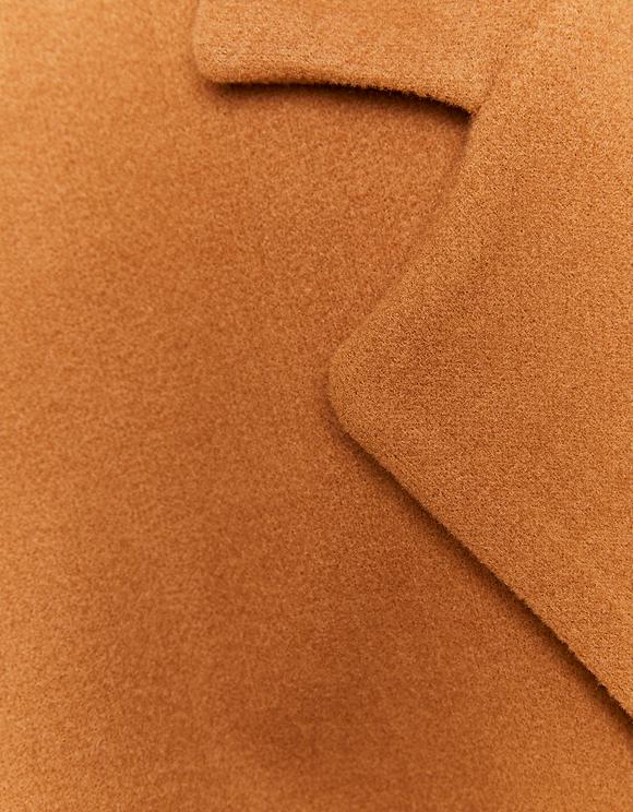 Manteau Camel Cache-Cœur