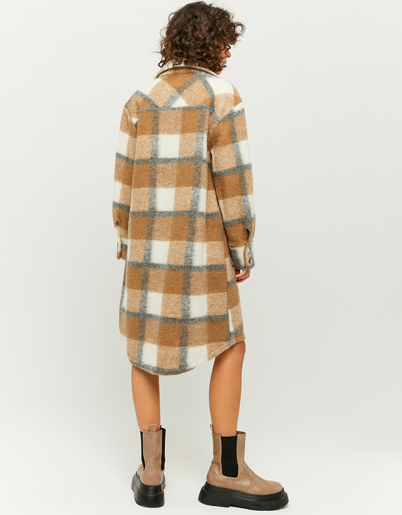 Brown Check Oversize Shacket