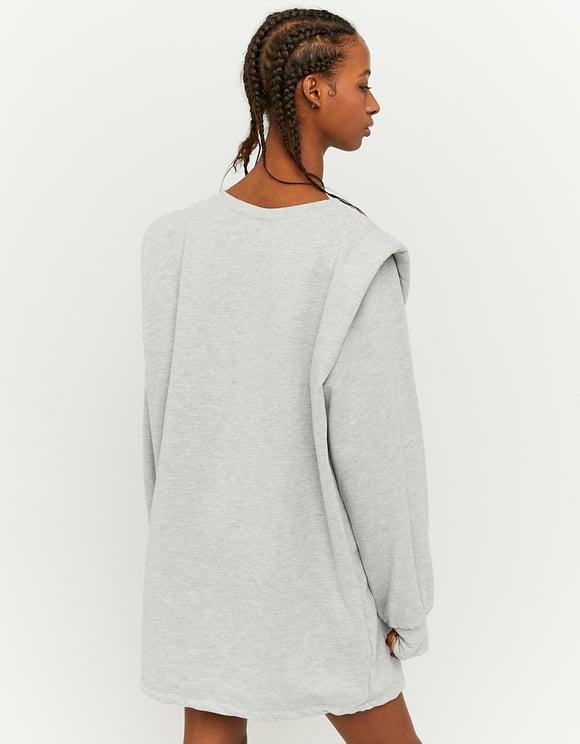 Szara bluza z usztywnianymi ramionami