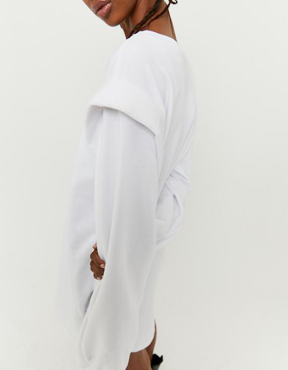 Sweat Blanc avec Épaulettes