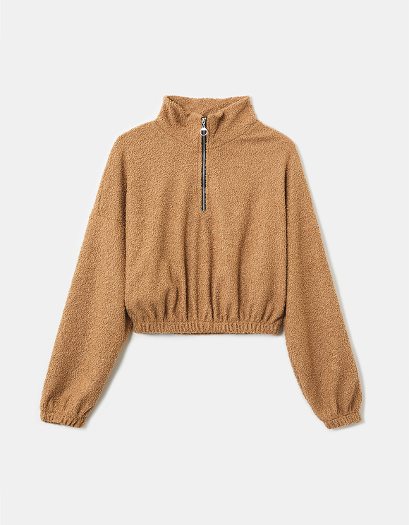 Beige Teddy Sweatshirt