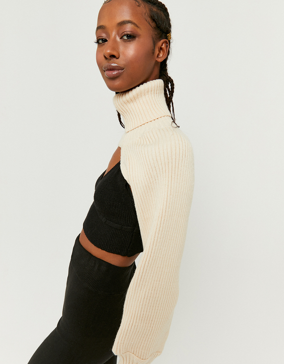 Pull Ouvert Blanc