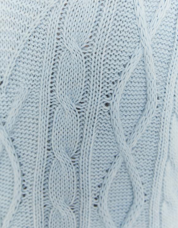 Sleeveless V-Neck Cable Knit Jumper