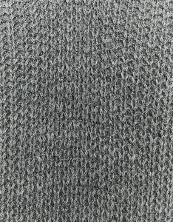 Graues ärmelloses langes Strickkleid