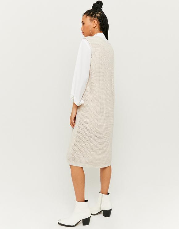 Robe Longue en Maille Sans Manches