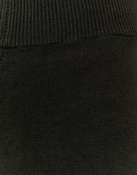 Pantalon Jambe Large Noir en Maille