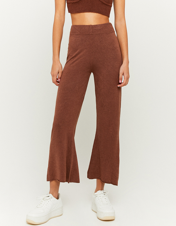 Wide Leg Knitted Trousers
