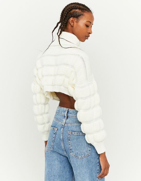 White Cropped Jumper