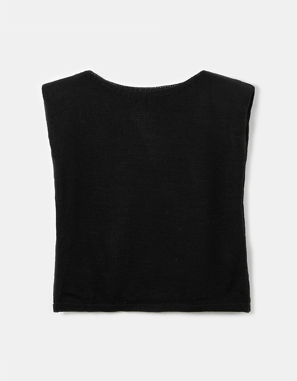 Black Shoulder Pads Jumper