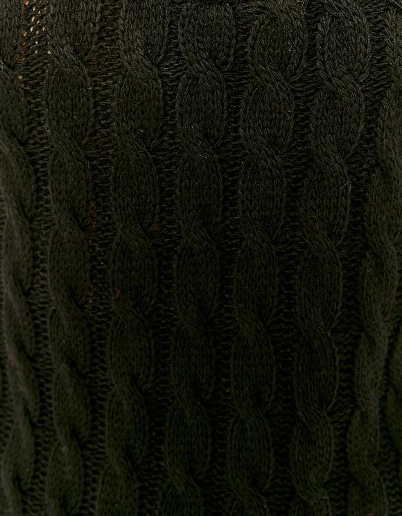 Polo en Maille Torsadée Noir