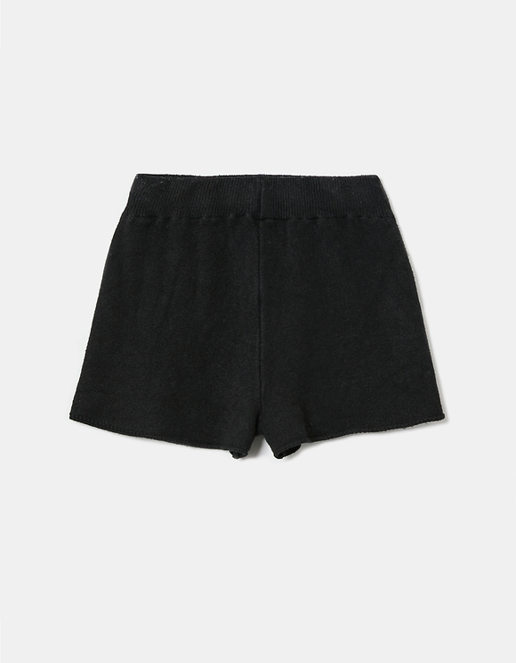 Black Knitted Shorts