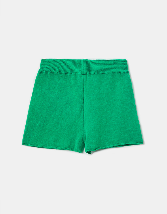 Green Knit Shorts