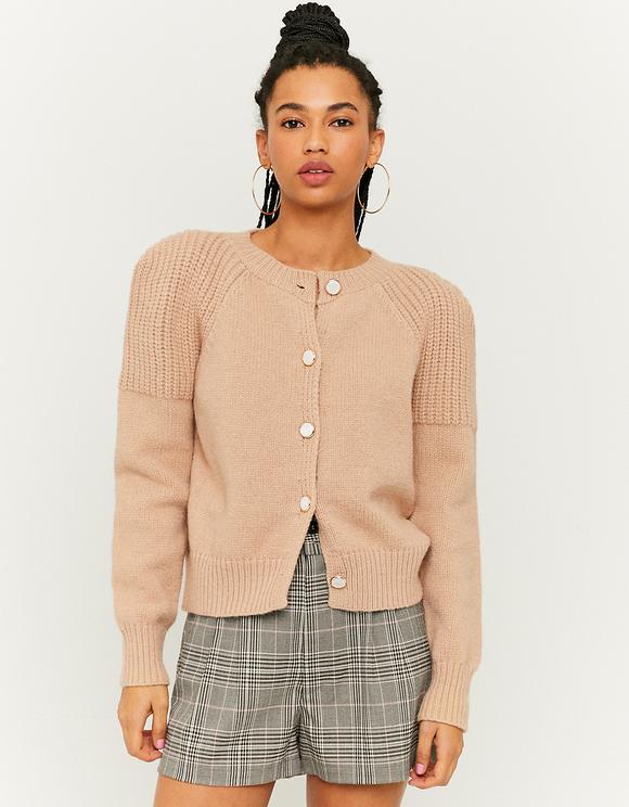 Shoulder Pad Knit Cardigan
