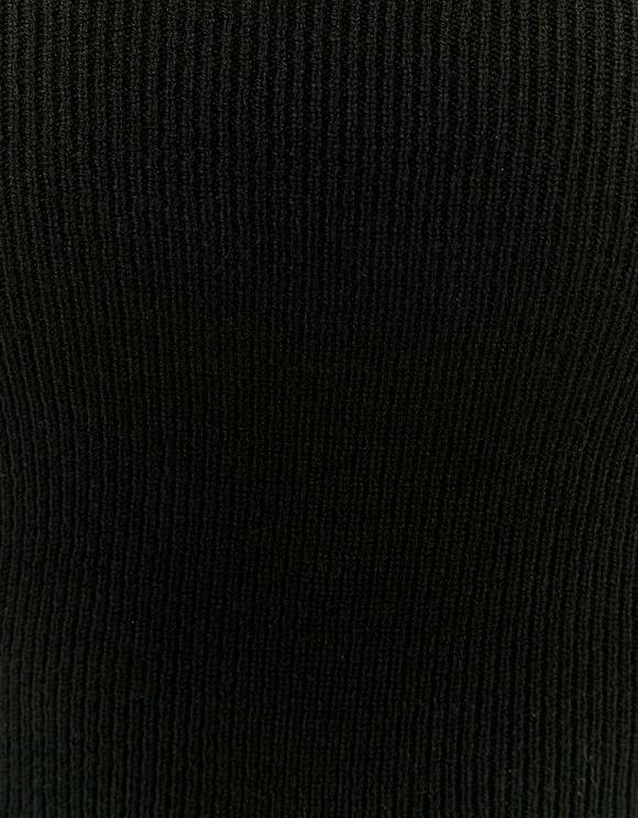 Crop Top en Maille Noir