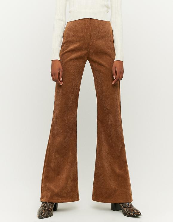 Cognac Flare Trousers